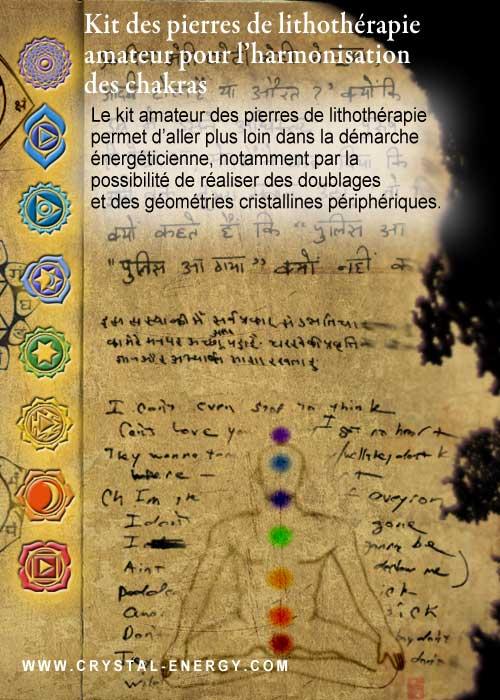 kit lithothérapie amateur d'harmonisation des chakras