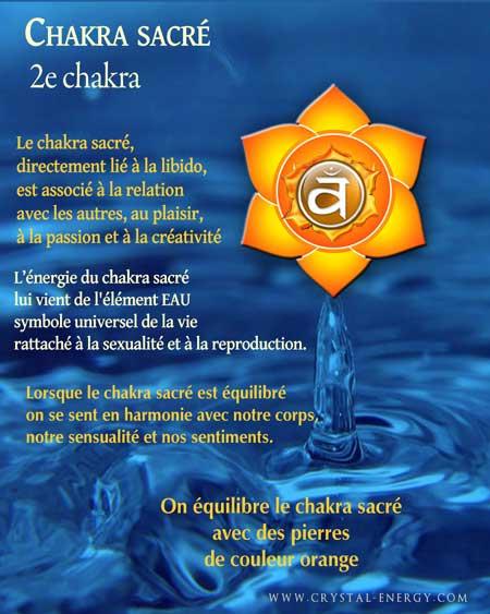 Propriétés du chakra sacré, le 2e chakra