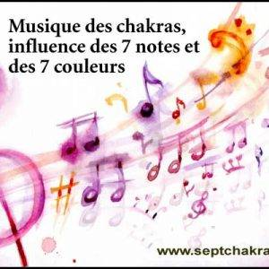 Musique des chakras, 7 notes et 7 couleurs
